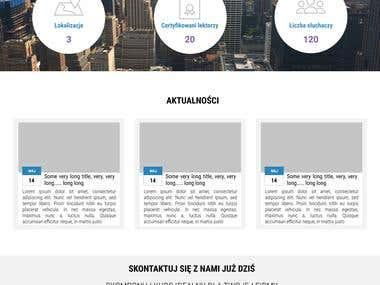 Language school website project