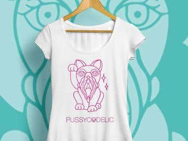 Brand Identity - Logo Design Pussycodelic Fashion Brand