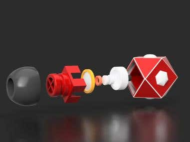 Product design 3D + Rendering