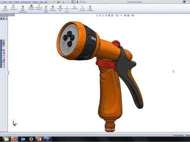 Product design by using solidworks