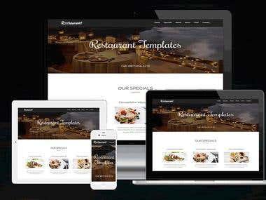 Restaurant HTML Template.