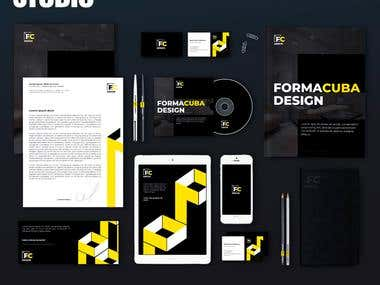 Logo, corporate identity and marketing kit for the company ""