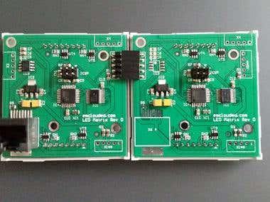 LED matrix board