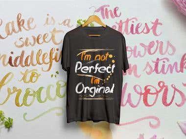 Design typography t-shirt