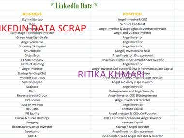 Linkedin Data Scrapping