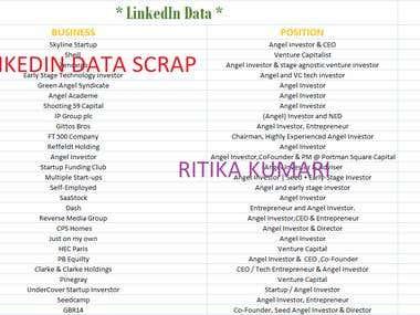 Linkedin Data Scrapping