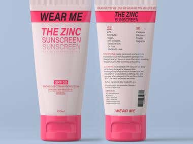 CREATIVES: Design a Sunscreen Tube (Front and Back)