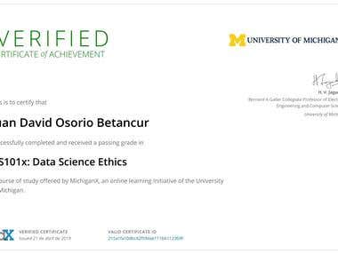 Data Science Ethics Certificate