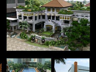 rendering exterior,civil,interior