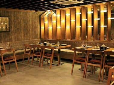 Interior Designing of a High End Resturant.