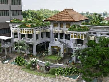 rendering 3d rumah tinggal