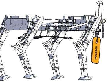 quadruped robot solid works design