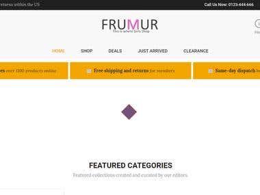 Frumur (An E-Commerce Website)