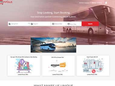 Meebus Website design and development