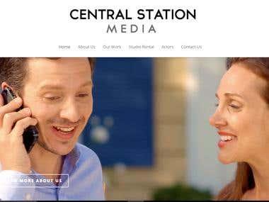 Central Media Station (Commercial Website)