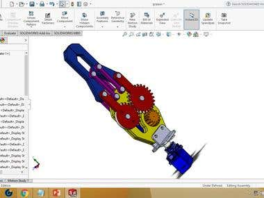 design gripper in soildworks