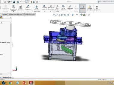 design servo motor in solidworks