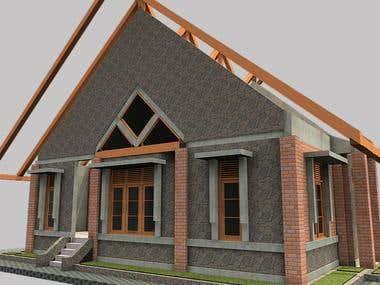 desain rumah tinggal th 2001