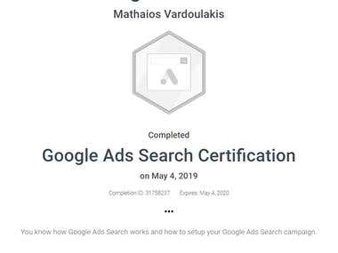 Adwords Search Certificate