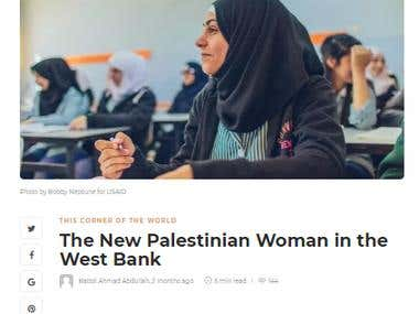 Content Writing( The New Palestinian Woman in the West Bank)