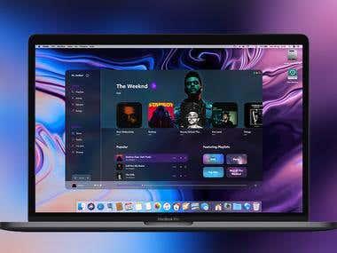 iTunes Dark Theme Redesign