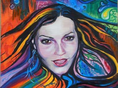 OIL PAINTING, CHARACTER