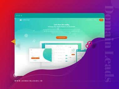 domain leads - lead generation web app