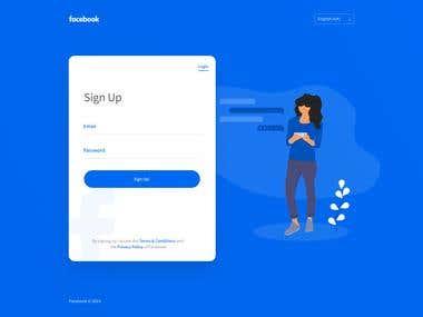 Facebook Signup redesigned