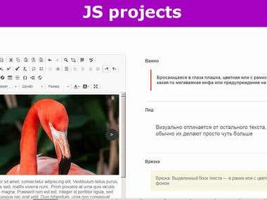 JS projects