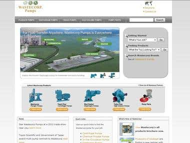 Water Pumb Website - Custom PHP