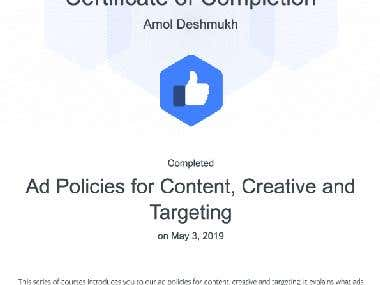 Facebook's AD policies for content, creative and Targeting