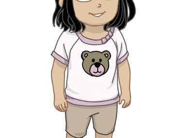 Cartoon girl 1