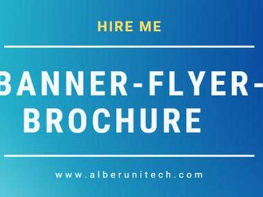 Banner, Brochure & Flyer Design