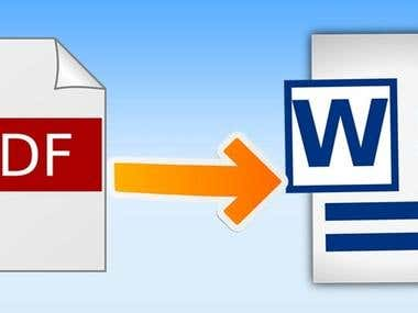 Convert your PDF or Image File to Microsoft Word