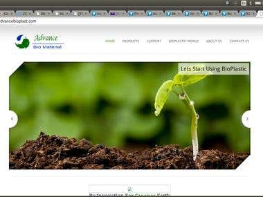 Website For Bio Plastic Manufacturing Company