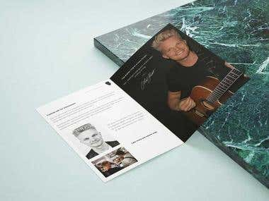 Brochure for a live musician