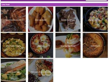 Vue.js web app for recipe