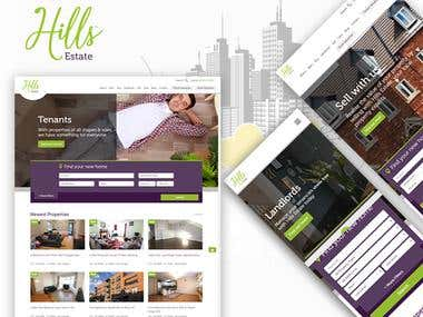 Hills Estate - Property Web application
