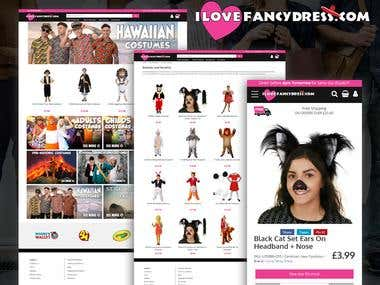 I Love Fancy Dress - Ecommerce Store