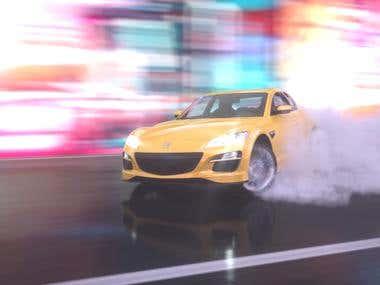 3D car rendering.