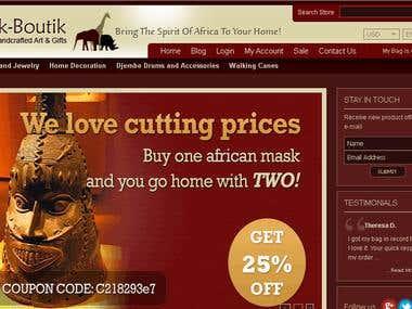 http://www.afrikboutik.com - virtuemart ecommerce site