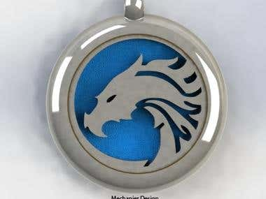 Stainless steel Dragon pendant jewelry design