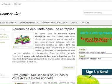 Mon blog sur l'entrepreneuriat