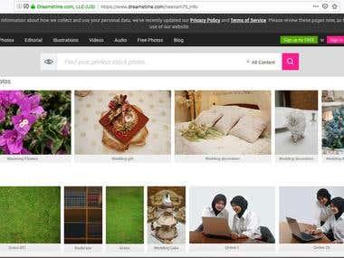 A screenshot of my portfolio on dreamstime.com