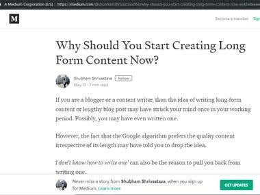 Why You Should Start Creating Long Form Content Now?