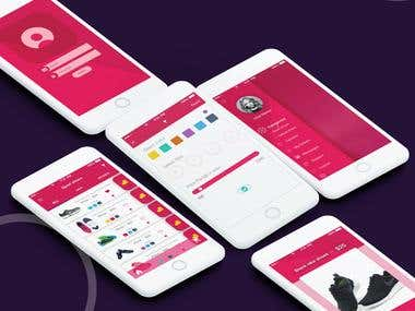 Unisex Shoes Shopping UI