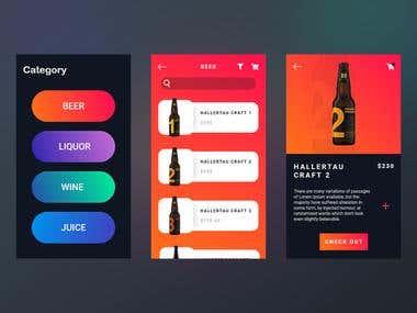 Drinkster Shop App UI