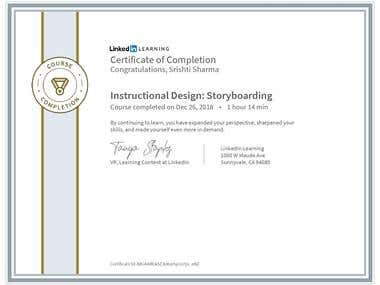 Instructional Designing & Storyboard