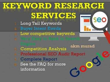 SEO Keyword Research, Email Marketing, Data Entry etc.