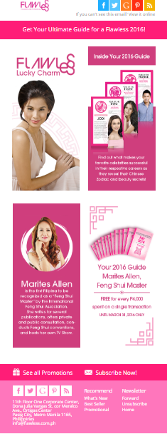 Email Campaign for Forever Flawless Face and Body Clinic